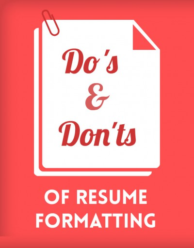 samara dos and donts resume formatting 1 - Formatting A Resume